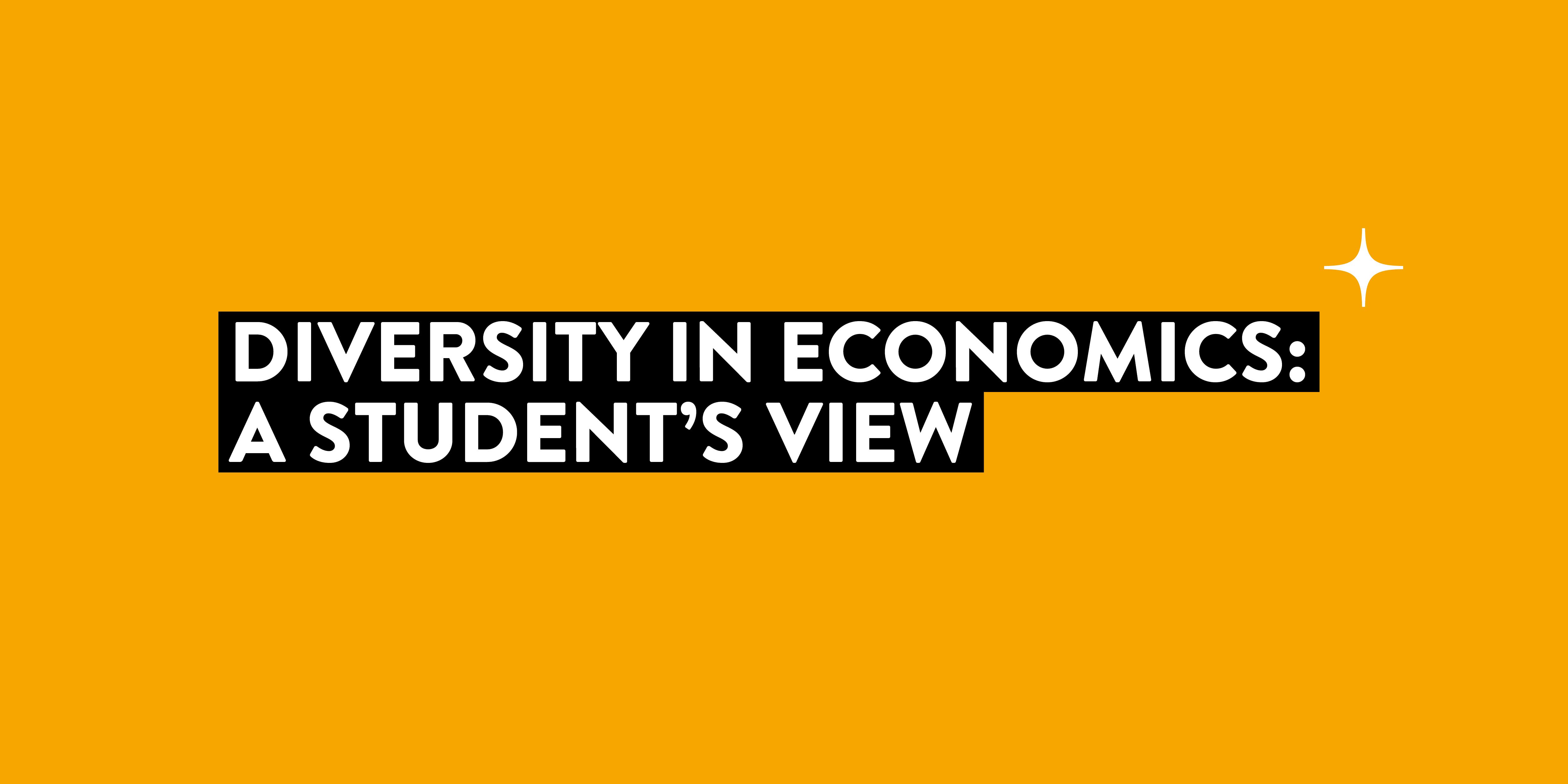 Diversity in Economics: A Student's View
