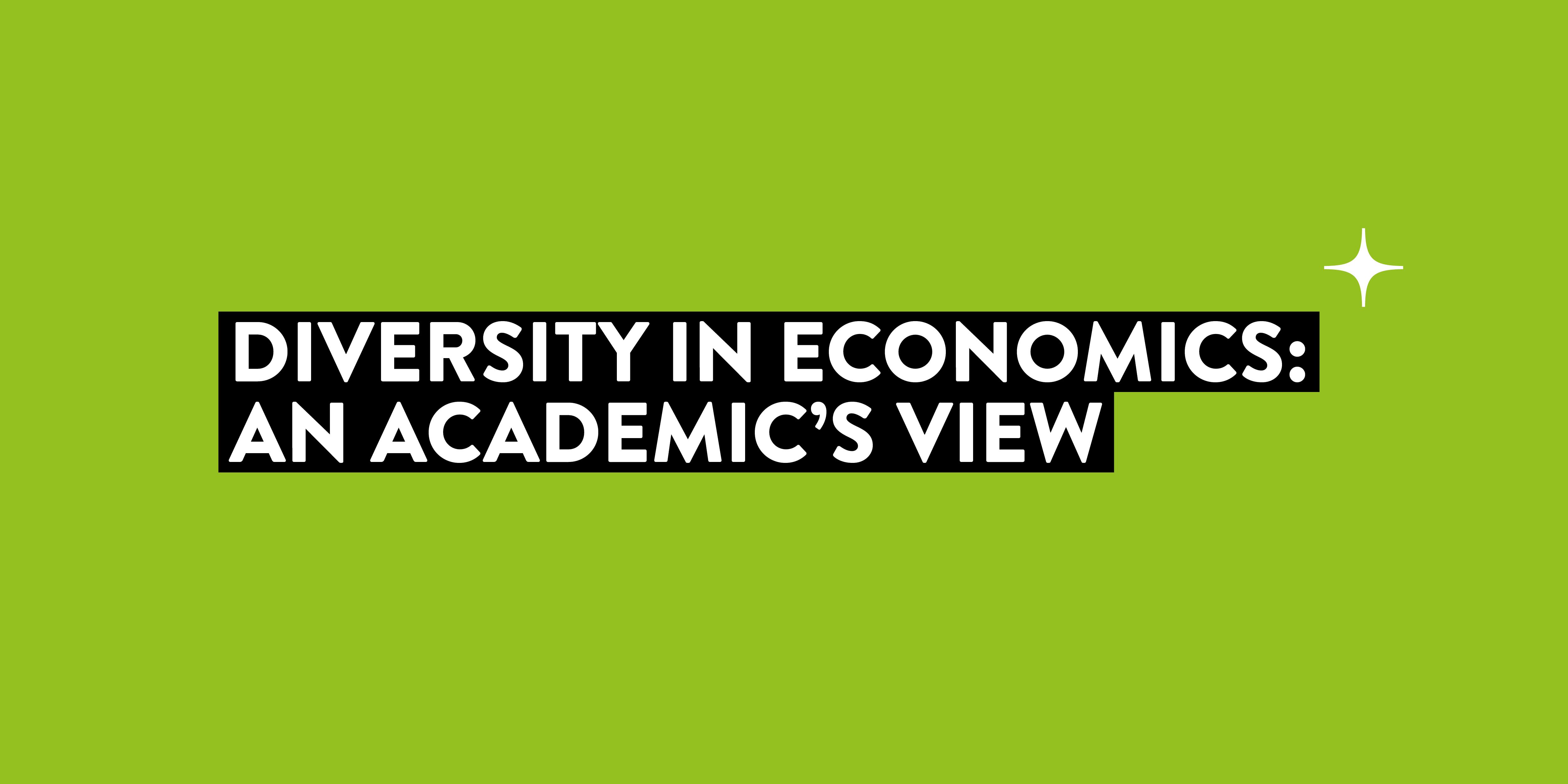 Diversity in Economics: An Academic's View
