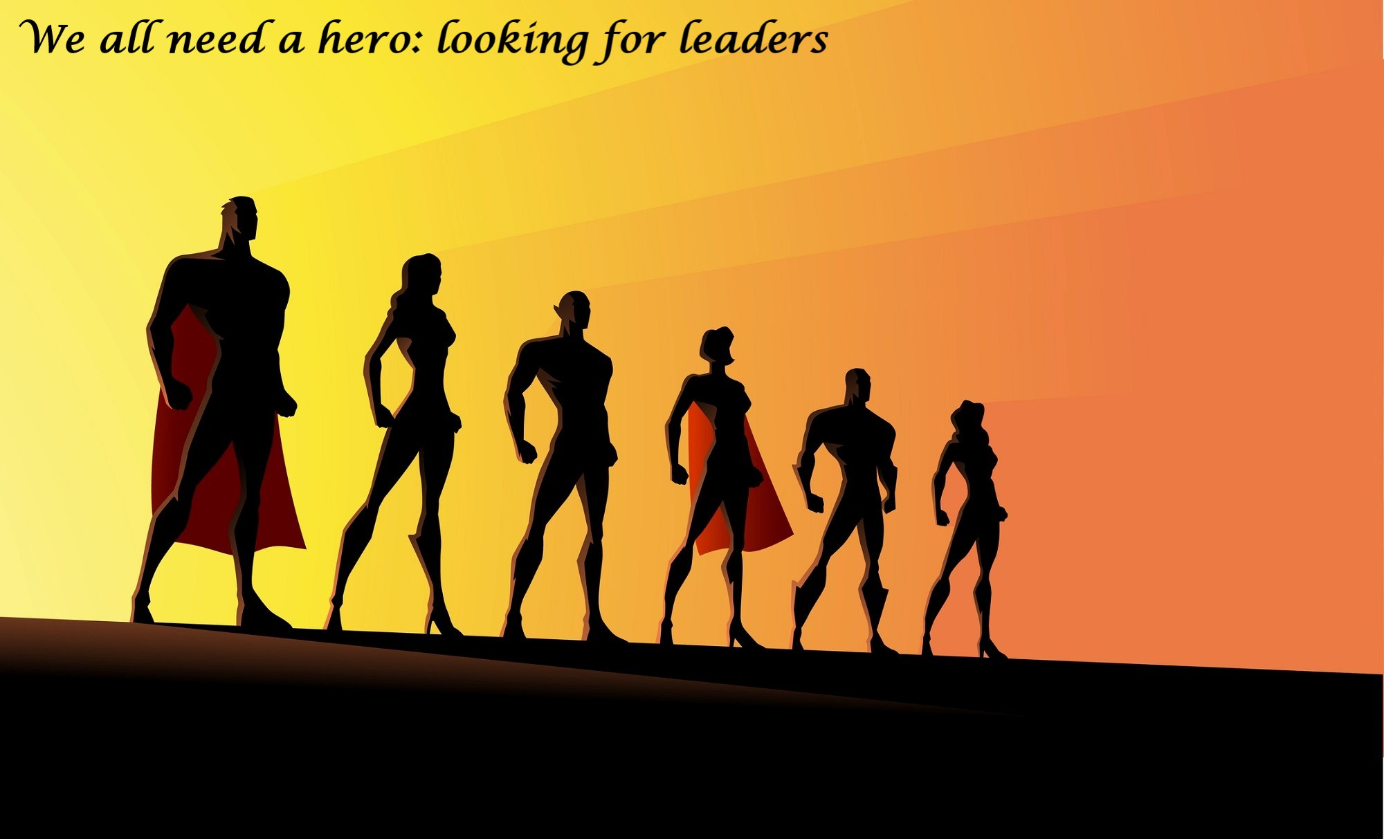 We all need a hero: Looking for leaders